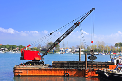 TCH CONSULTING GROUP Barge and Crane